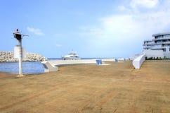 Entrada del puerto deportivo de Beirut Fotos de archivo