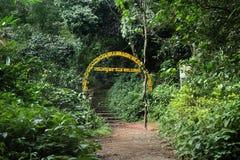 Entrada del santuario de fauna de Brahmagiri Foto de archivo