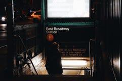 Entrada del subterráneo Foto de archivo libre de regalías