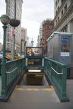 Entrada del subterráneo en la 23ro calle en NYC Imagen de archivo