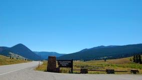 Entrada del telecontrol de Yellowstone Foto de archivo libre de regalías