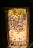 Entrada del templo Fotos de archivo