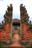Entrada del templo de Bali Imagen de archivo libre de regalías