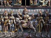 Entrada del templo de Sri Veeramakaliamman Imágenes de archivo libres de regalías