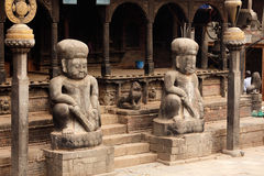 Entrada del templo hindú en Nepal Fotos de archivo