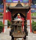 Entrada del templo Huode Zhenjun de dios del fuego en Sichahai, Pekín Imagenes de archivo