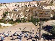 Entrada del valle de la paloma, Cappadocia, Turquía Imágenes de archivo libres de regalías