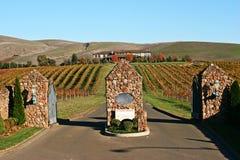 Entrada del viñedo de Sonoma Foto de archivo