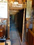 Entrada del viaje de la mina Imagenes de archivo