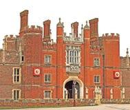 Entrada delantera al palacio del Hampton Court Fotografía de archivo libre de regalías