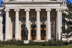 Entrada delantera del Athenaeum rumano Fotos de archivo libres de regalías