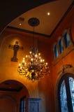 Entrada delantera interior casera de la mansión Foto de archivo