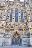 Entrada delantera a la catedral de Wells Imagen de archivo libre de regalías