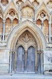 Entrada delantera a la catedral de Wells Imagenes de archivo