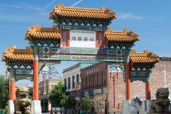Entrada do bairro chinês Imagens de Stock