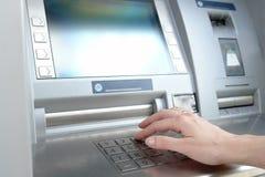 Entrada do código do PIN do ATM Imagem de Stock Royalty Free