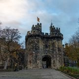 Entrada do castelo de Lancaster imagem de stock royalty free