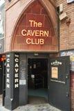A entrada do clube da caverna Imagem de Stock Royalty Free