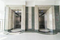 A entrada do elevador imagens de stock