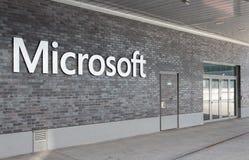 Entrada do escritório de Suíça de Microsoft Fotografia de Stock