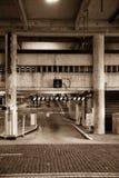 Entrada do estacionamento do Sepia Fotografia de Stock Royalty Free