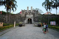 A entrada do forte cidade de San Pedro, Cebu, Filipinas fotos de stock