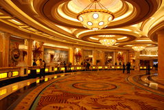 A entrada do hotel de luxo Imagem de Stock