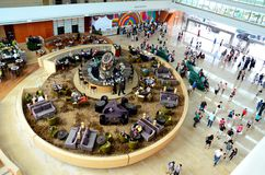 Entrada do hotel de Marina Bay Sands: Singapura Imagem de Stock
