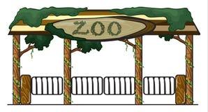 Entrada do jardim zool?gico ilustração do vetor