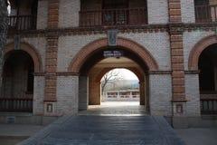 Entrada do jardim zool?gico do Pequim, China fotos de stock royalty free
