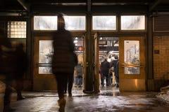 Entrada do metro de New York City Foto de Stock Royalty Free