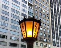Entrada do metro, NYC, NY, EUA Imagem de Stock
