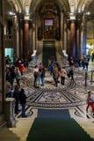 Entrada do museu de Kunsthistorisches ou do museu de Art History, V Imagens de Stock Royalty Free