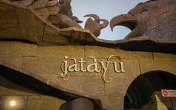 Entrada do museu encontrada dentro da escultura de Jatayu fotografia de stock
