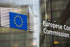 Entrada do oficial da Comissão Europeia Imagens de Stock
