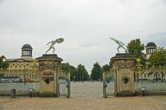 Entrada do palácio de Charlottenburg, Berlim Fotografia de Stock Royalty Free