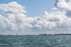 Entrada do porto de Rotterdam do mar, Países Baixos Fotografia de Stock Royalty Free
