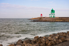 Entrada do porto de Stavoren, os Países Baixos Imagem de Stock Royalty Free