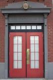 Entrada do quartel dos bombeiros Fotografia de Stock Royalty Free