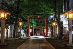 Entrada do santuário de Hanazono Imagens de Stock Royalty Free