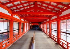 A entrada do santuário de Itsukushima em Hiroshima, Japão Fotografia de Stock Royalty Free