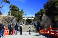 Entrada do santuário de Takeda Shingen Foto de Stock