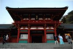 Entrada do santuário de Tsurugaoka Hachiman-gu Foto de Stock Royalty Free