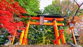Entrada do santuário em Kawaguchiko, Japão Fotos de Stock Royalty Free