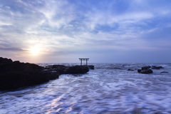 Entrada do santuário no nascer do sol Fotografia de Stock Royalty Free