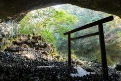 Entrada do santuário xintoísmo na caverna Imagem de Stock Royalty Free
