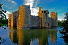 Entrada do sul do castelo de Bodiam Imagem de Stock Royalty Free