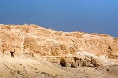 Entrada do túmulo, vale dos reis, Egito fotografia de stock royalty free