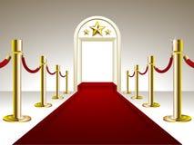 Entrada do tapete vermelho Fotografia de Stock Royalty Free