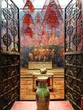 Entrada do templo budista do Mo do homem, Hong Kong Fotos de Stock Royalty Free
